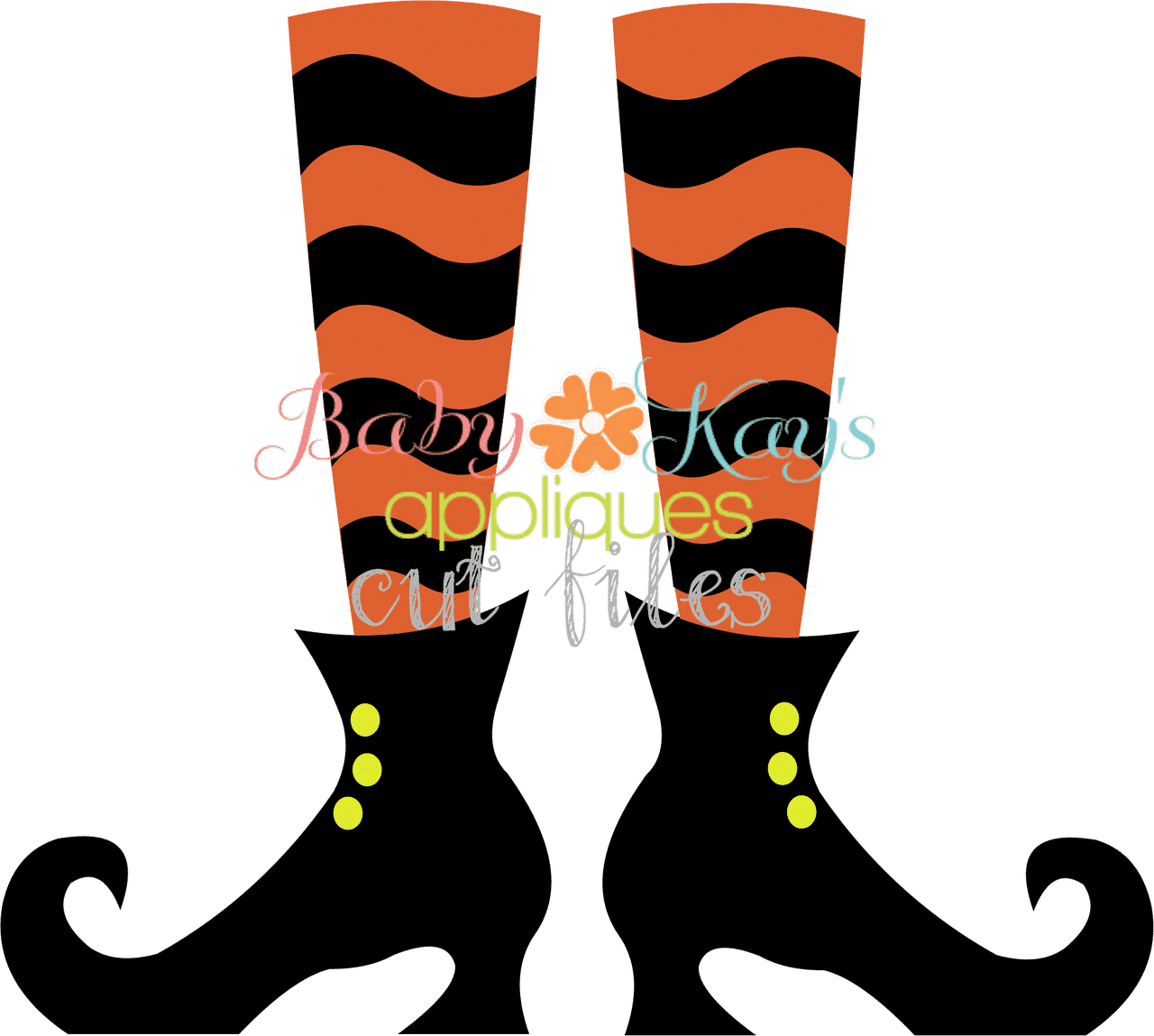 Design Your Own Home Free Software Cut File Wavy Sock Witch Legs Baby Kay S Appliques